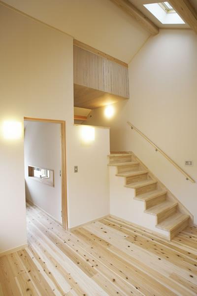 インテリアの一部として部屋の表情を作る階段。
